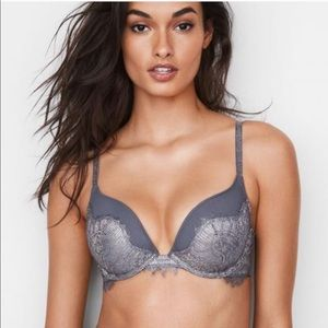 🆕 Victoria's Secret Silver Push Up Bra, 32DD